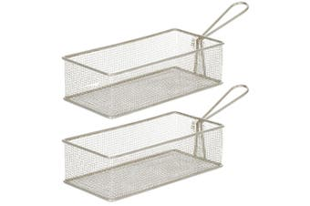 2PK Davis & Waddell Taste Bistro Rectangular Serving Basket 21.5x10.5cm Metal