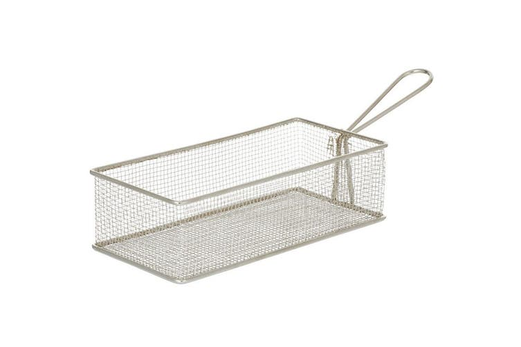 6PK Davis & Waddell Taste Bistro Rectangular Serving Basket 21.5x10.5cm Metal