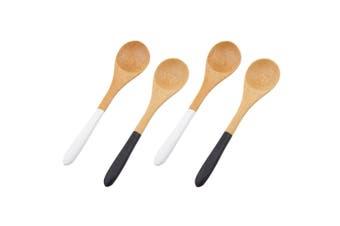 Davis & Waddell 4pc Amhara Bamboo Dip Spoon Set Tableware Serving Utensil