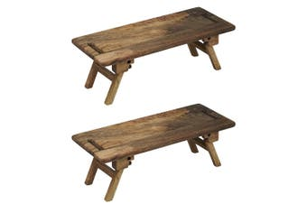 2x Davis Waddell Landstead 50cm Mango Wood Chopping Cheese Board Serving Platter