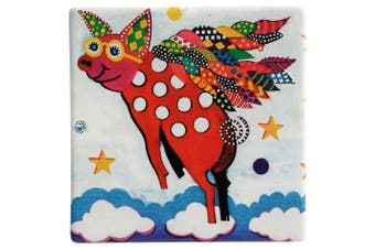 Maxwell & Williams Smile Style Ceramic Tile Coaster Pigasus 9cm Placemat