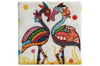 Maxwell & Williams Smile Style Ceramic Tile Coaster Flamboyant 9cm Placemat