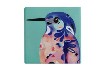 Maxwell & Williams 9.5cm Pete Cromer Ceramic Square Cup Coaster Azure Kingfisher