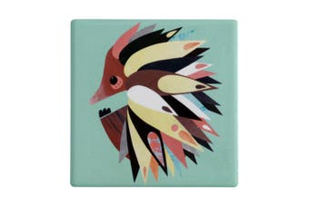 Maxwell & Williams 9.5cm Pete Cromer Ceramic Echidna Square Tile Drink Coaster