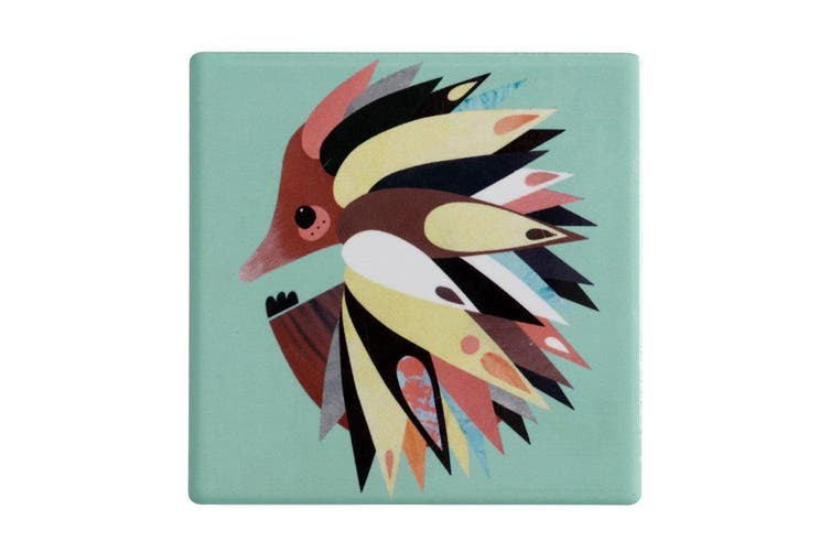 Maxwell & Williams 9.5cm Pete Cromer Ceramic Echidna Square Tile Drink Coaster