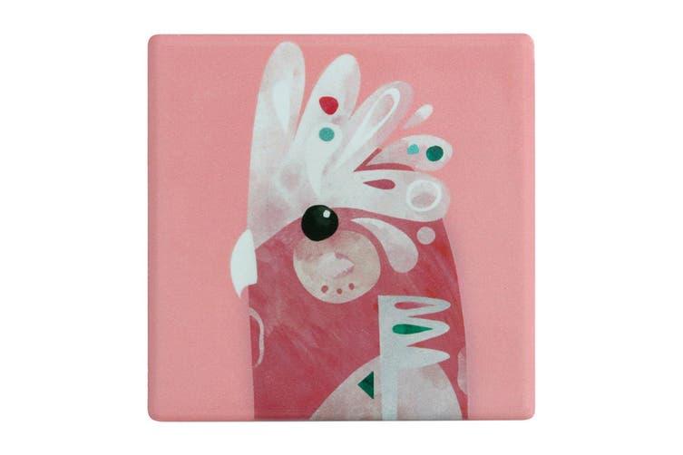 Maxwell & Williams 9.5cm Pete Cromer Ceramic Galah Square Tile Drink Cup Coaster