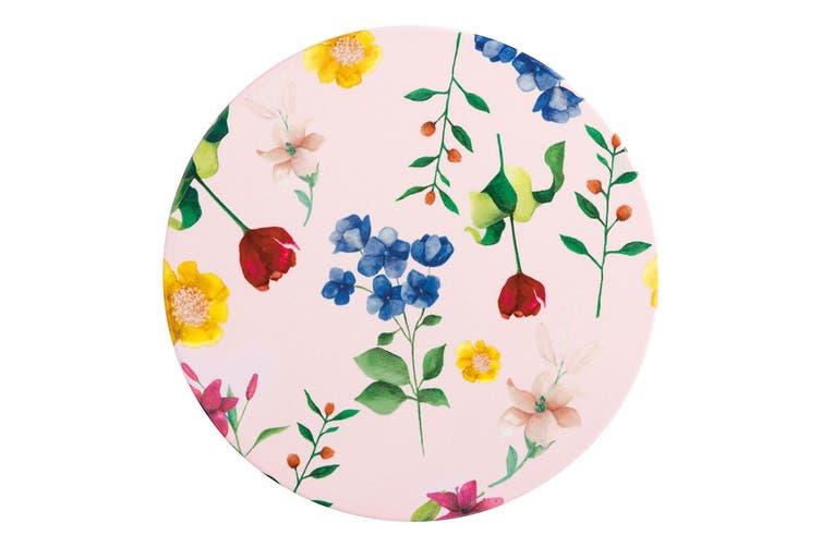 Maxwell & Williams Teas & C's Contessa 20cm Round Ceramic Cork Floral Trivet PK