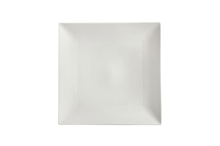 Maxwell & Williams White Basics Linear 30cm Square Platter Food Serving Plate