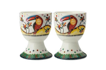 2pc Maxwell & Williams Smile Style Egg Cup Holder Hard Boiled Stand Set Tango