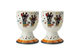 2pc Maxwell & Williams Smile Style Egg Cup Holder Hard Boiled Stand Set Zarafa