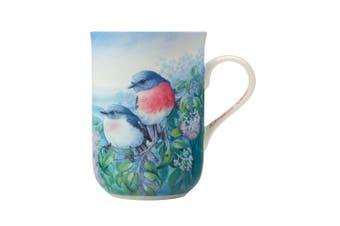 Maxwell & Williams Birds of Australia 300ml Bone China Coffee Mug Cup Rose Robin