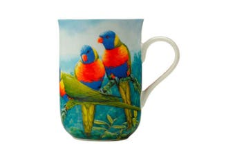 Maxwell & Williams Birds of Australia 300ml Bone China Mug Coffee Cup Lorikeet