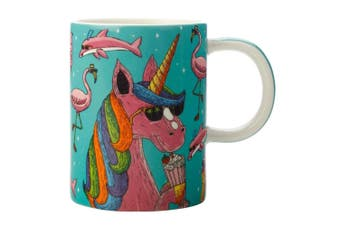 Maxwell & Williams Mulga The Artist 450ml Porcelain Mug Coffee Tea Cup Unicorn
