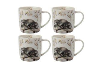 4x Maxwell & Williams Sally Howell Porcelain 340ml Mug Coffee Drink Cup Koala WH