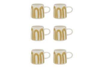 6x Ecology 340ml Stoneware Coffee Tea Nomad Mug Dishwasher Safe Cup Amber
