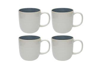 4PK Ecology 440ml Astrid Mug Stoneware Hot Cold Drinking Coffee Tea Cup White BL