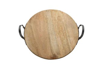 Ecology 50cm Arcadian Round Handled Serving Centre Piece Cheese Fruit Platter