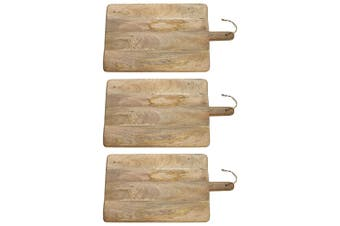 3x Ecology 60x35cm Arcadian Serving Paddle Board Cheese Fruit Platter Mango Wood