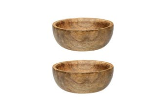 2PK Ecology 12x5cm Arcadian Tapas Snacks Nuts Serving Bowl Natural Mango Wood