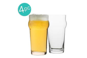 4pc Ecology Classic 640ml Clear Beer Glass Pint Glasses Glassware Barware Set