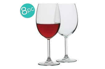 8pc Ecology Otto European 440ml Clear Stemless Red Wine Glasses Barware Set
