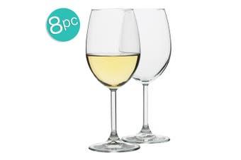 8pc Ecology Otto European 360ml Clear Stemless White Wine Glasses Barware Set