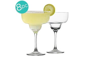 8pc Ecology Classic 340ml Clear Cocktail Glass Margarita Glasses Glassware Set