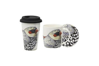 3pc Ecology Paradiso 320ml Mug & Coaster Set 240ml Travel Drinking Mug Firetail