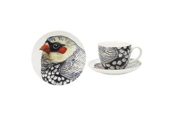 3pc Ecology Paradiso 20cm Side Plate 430ml Cup & Saucer Tableware Set Firetail