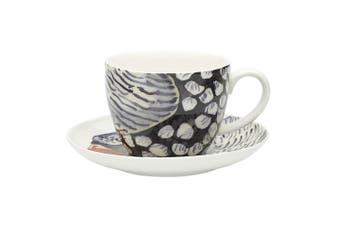 Ecology Paradiso 430ml Drink Mug Fine China Coffee Tea Cup Saucer Set Firetail