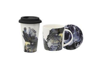 3pc Ecology Paradiso 320ml Mug & Coaster Set 240ml Drinking Travel Mug Cockatoo