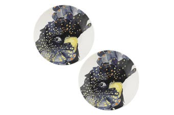 2PK Ecology Paradiso 20cm Fine China Side Plate Kitchen Dinner Dish Cockatoo