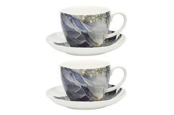 2PK Ecology Paradiso 430ml Mug Fine China Coffee Tea Cup & Saucer Set Cockatoo