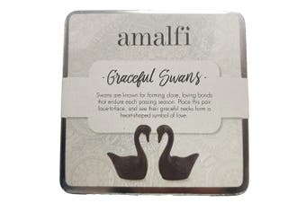Amalfi Graceful Swans Set 2 Cast Iron Home Decor Gifts Figurines Statue Decor