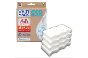 4PK White Magic Extra Power Eco Eraser 11cm Cleaning Sponge Kitchen Cleaner WHT