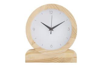 Amalfi Presley 23x20cm Analogue Mantel Desk Shelf Clock Home Decor White Natural