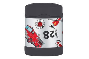 Thermos Funtainer 290ml Food Jar Stainless Steel Hot Cold Flask Fire Truck Red