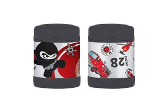 2pc Thermos Funtainer 290ml Food Jar Stainless Steel Kids Flask Fire Truck Ninja