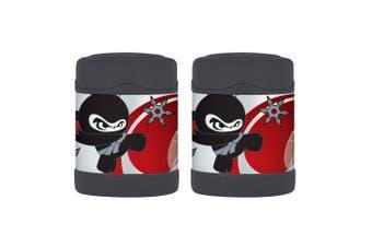 2x Thermos Funtainer 290ml Food Jar Stainless Steel Vacuum Insulated Flask Ninja