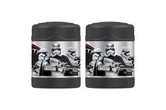 2PK Thermos Funtainer 290ml Stainless Steel Food Jar Star Wars Storm Trooper BLK