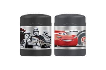 2pc Thermos Funtainer 290ml Food Jar Vacuum Flask Star Wars Storm Trooper Cars
