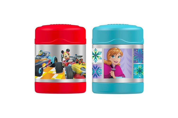 2pc Thermos Funtainer 290ml Food Jar Stainless Steel Vacuum Flask Frozen Mickey