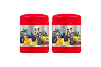 2PK Thermos Funtainer 290ml Food Drink Jar Stainless Steel Vacuum Flask Mickey