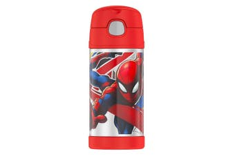 Thermos 355ml Funtainer Insulated Stainless Steel Water Drink Bottle Spiderman