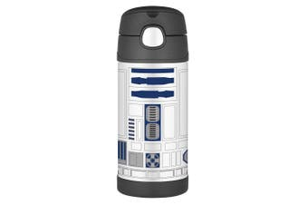 Thermos Funtainer 355ml Insulated Stainless Steel Drink Bottle Star Wars R2D2