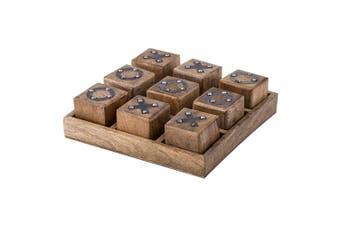 Amalfi 25cm Mango Wooden Noughts and Crosses Game Board Decor Play Tic Tac Toe