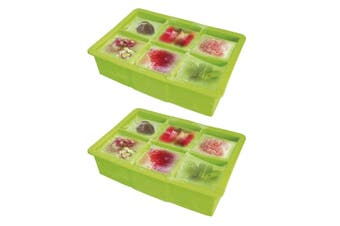 2PK Vin Bouquet Silicone Ice Cube Tray Mold Square DIY Mould Maker Party Green