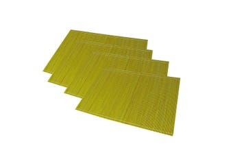 Emporium Sandro Bamboo 4pc Placemats Set Kitchen Dining 45cm Table Mat Pad Green