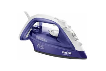 Tefal Ultraglide 2400W Steam Iron Ironing Steamer for Clothes Garments White