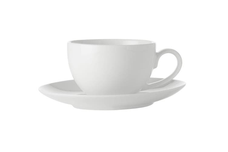 2pc Maxwell Williams White Basics Espresso Coffee Cup Saucer Set 100ml Porcelain